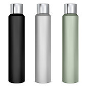 istock Spray can mockup. Deodorant tin. Hairspray 1286294523