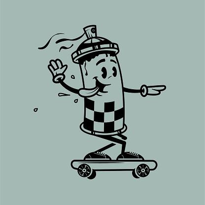 Spray can skater