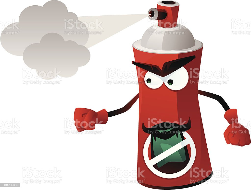spray can royalty-free stock vector art