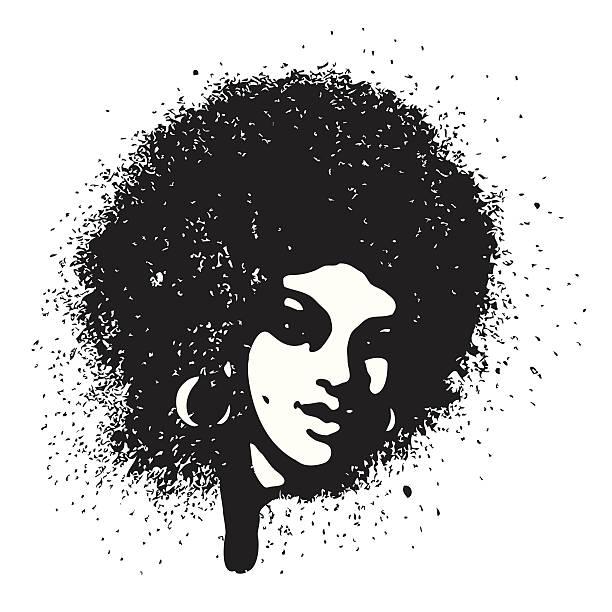 Spray girl vector art illustration
