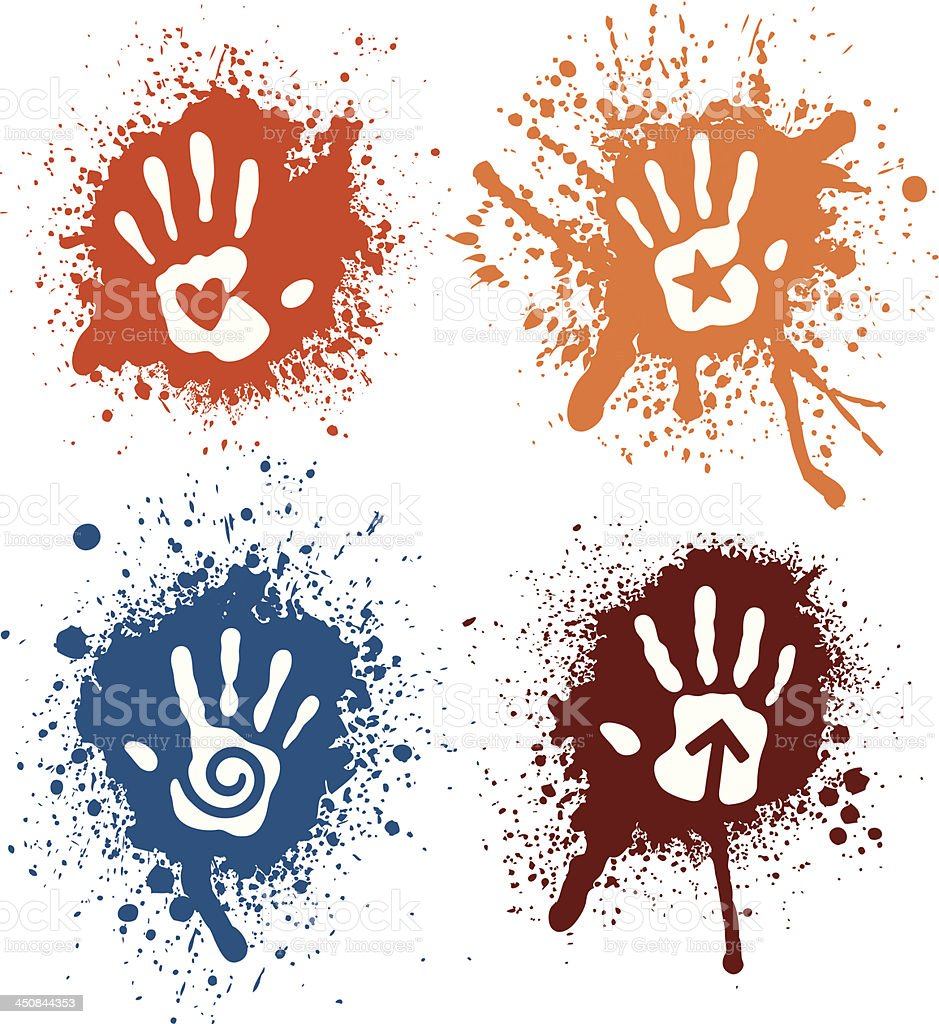 Spray Hands vector art illustration