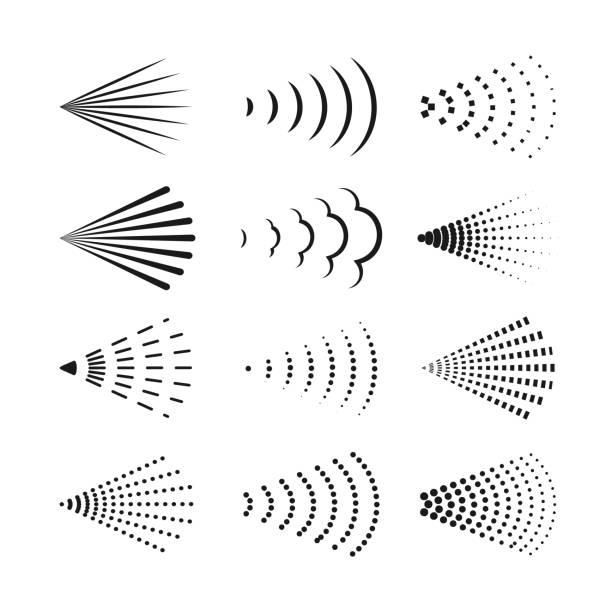 spray icon set. vector symbols collection. - para formy wodne stock illustrations