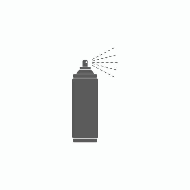 spray-symbol - haarsprays stock-grafiken, -clipart, -cartoons und -symbole