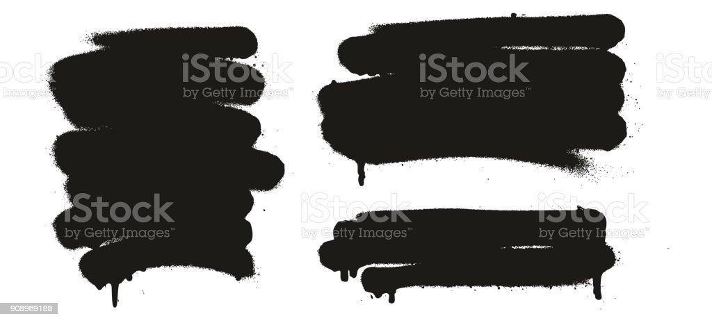Jeu de peinture en aérosol Abstract Vector Backgrounds 12 - clipart vectoriel de Abstrait libre de droits
