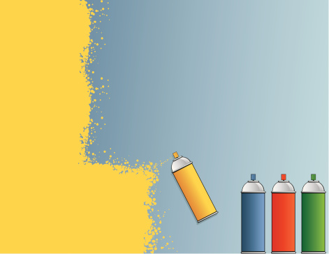 Spray Paint Background Stock Illustration - Download Image Now