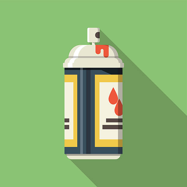 Spray Paint Can Graffiti Spray Can,Spray Paint Can .Vector Flat Icon aerosol can stock illustrations