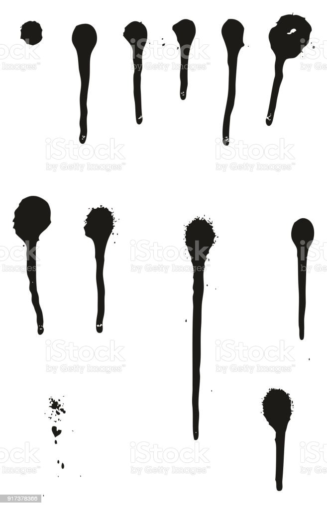 spray paint detail abstract vector drips set 01 stock vector art rh istockphoto com spray paint vector brush spray paint vector pack