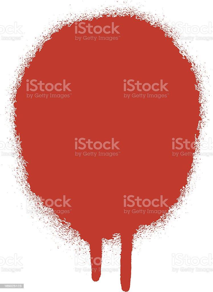 Spray Paint Drip royalty-free stock vector art