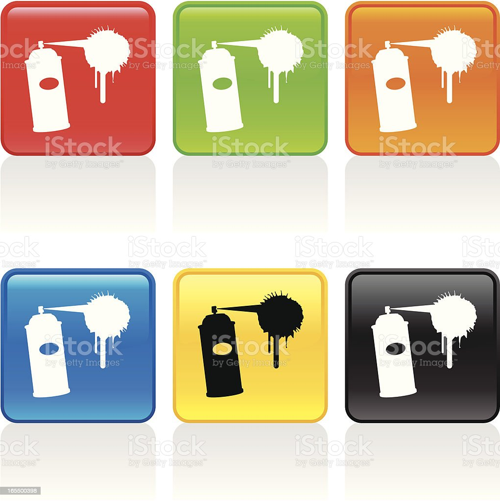 Spray Paint Icon royalty-free spray paint icon stock vector art & more images of black color