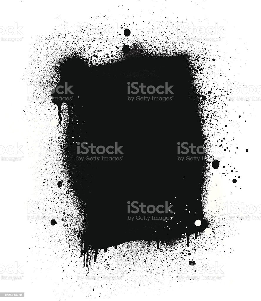 Spray Paint Splatter Board | Vertical vector art illustration