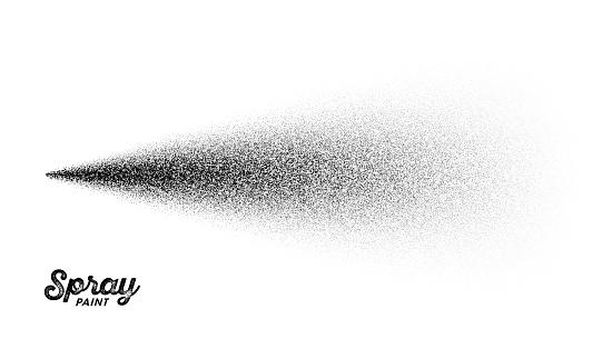 Spray paint splatter pattern, vector illustration