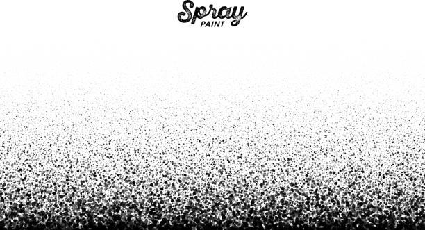 Spray paint splatter Spray paint splatter pattern, vector illustration airbrush stock illustrations