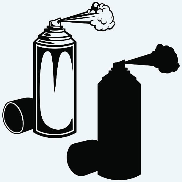 spray paint - haarsprays stock-grafiken, -clipart, -cartoons und -symbole