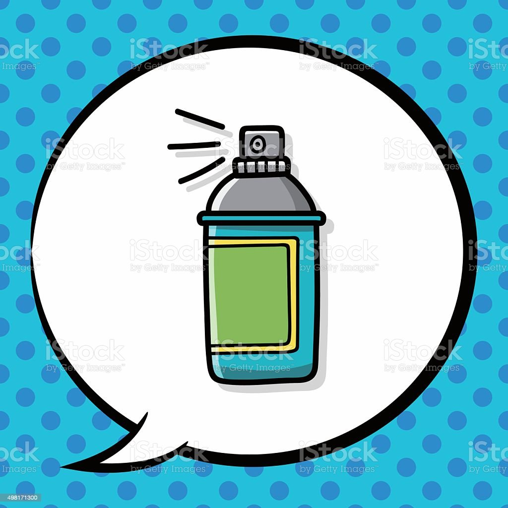 Spray Painting Doodle Speech Bubble Stock Illustration - Download Image Now
