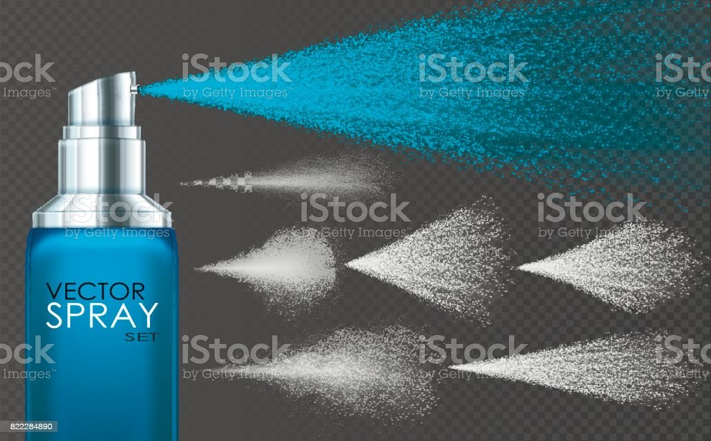 Spray, smoke, dust and dots. vector art illustration