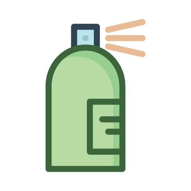 spritzer oder spray  - haarsprays stock-grafiken, -clipart, -cartoons und -symbole
