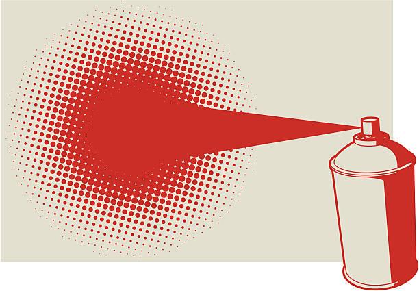 Spraycan Vector illustration of a aerosol spray pain can. aerosol can stock illustrations