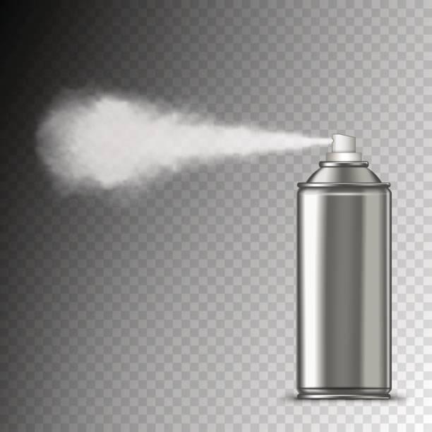 spritzen aus dose - haarsprays stock-grafiken, -clipart, -cartoons und -symbole