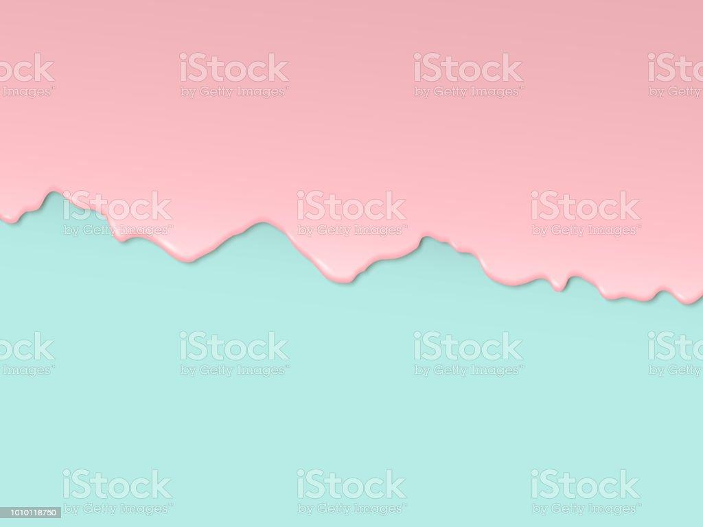 Extender la crema sobre un fondo coloreado - ilustración de arte vectorial