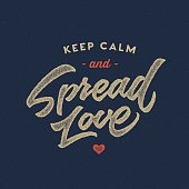 Spread Love Typographic poster, t shirt Lettering design