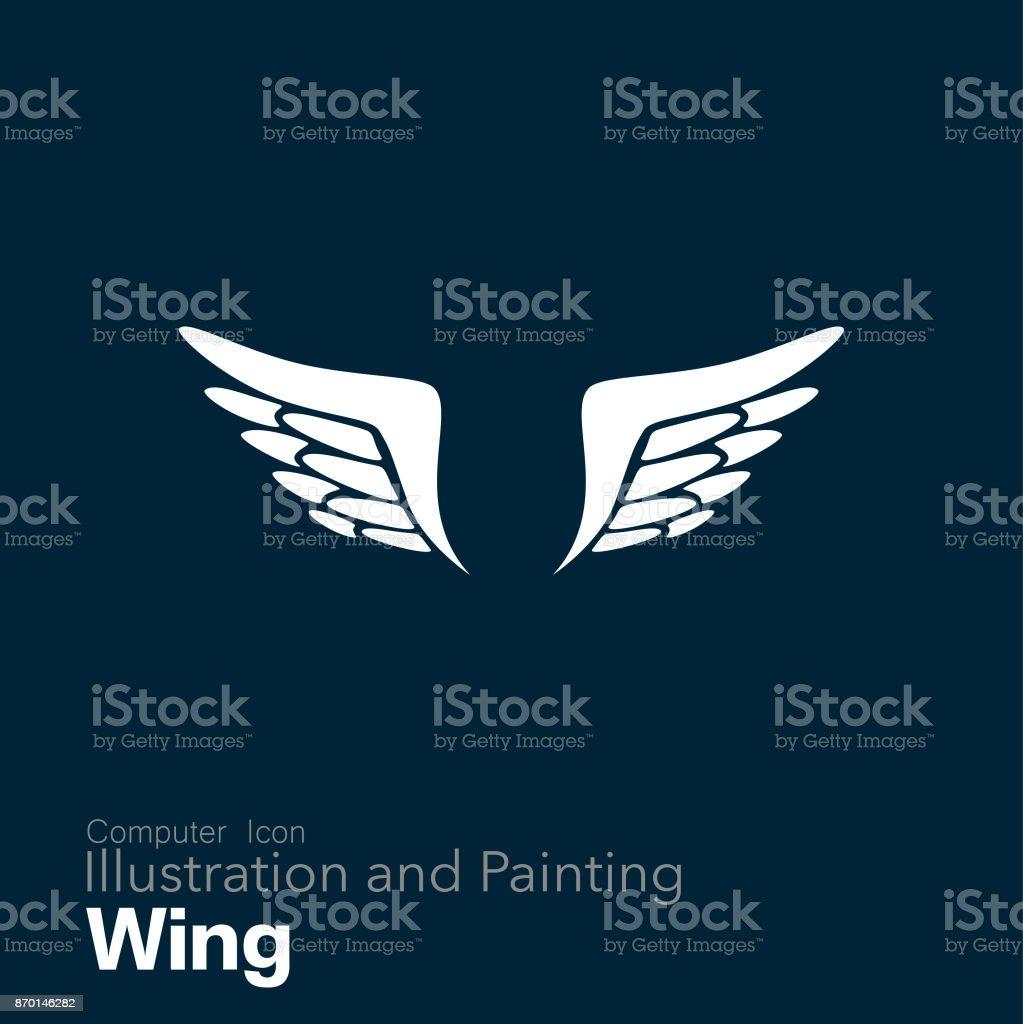 spread wings vector art illustration
