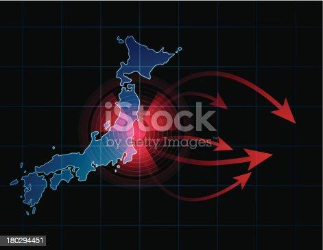 istock Spreading of radioactive waste from Fukushima, Japan 180294451
