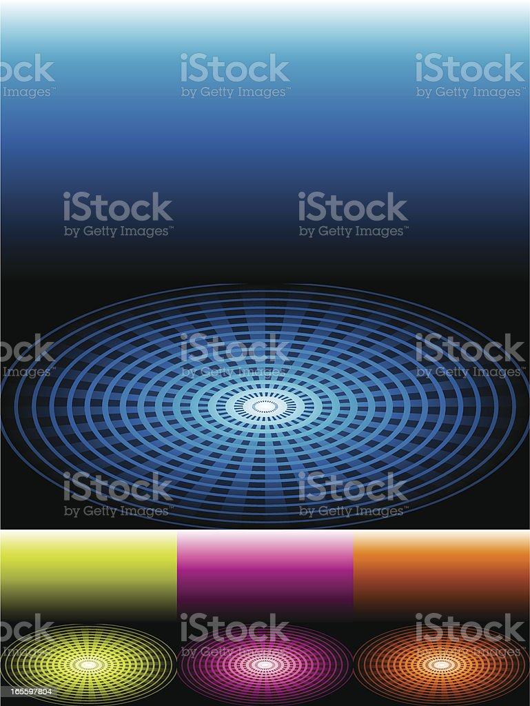 Spreading Radial Background in 4 color sets vector art illustration
