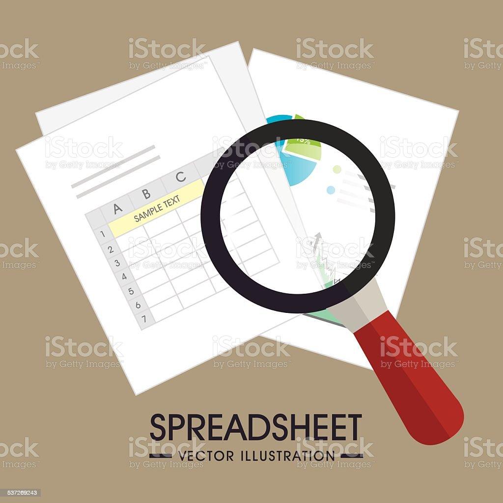 Spreadsheet design, vector illustration. vector art illustration