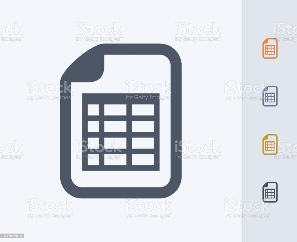Spreadsheet Document - Carbon Icons vector art illustration
