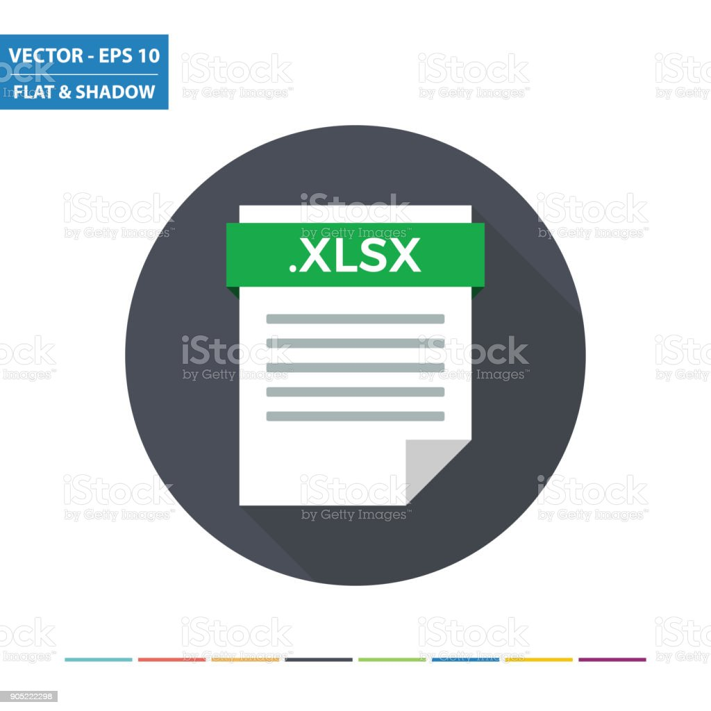 XLSX spreadsheet document file format flat icon