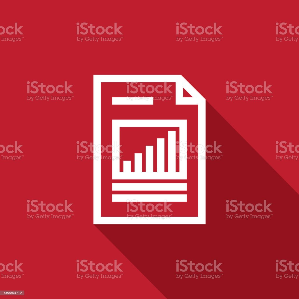 Spreadsheet document paper outline icon. thin line style for graphic and web design. Simple flat symbol vector Illustration. - Grafika wektorowa royalty-free (Akta)