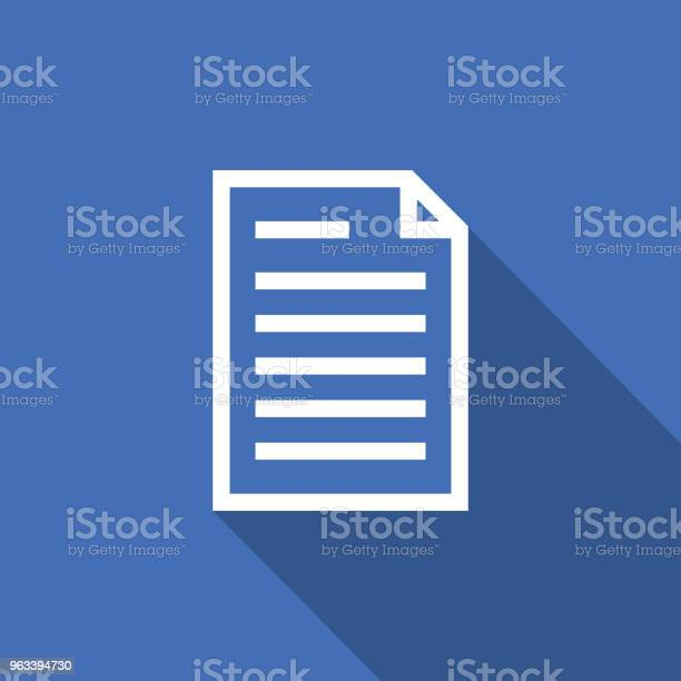Ikona Konspektu Dokumentu Arkusza Kalkulacyjnego Cienki Styl Linii Do Projektowania Graficznego I Internetowego Prosta Płaska Ilustracja Wektorowa Symbolu - Stockowe grafiki wektorowe i więcej obrazów Akta