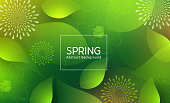 istock Spring abstract vector template design. Spring abstract background text 1285611994