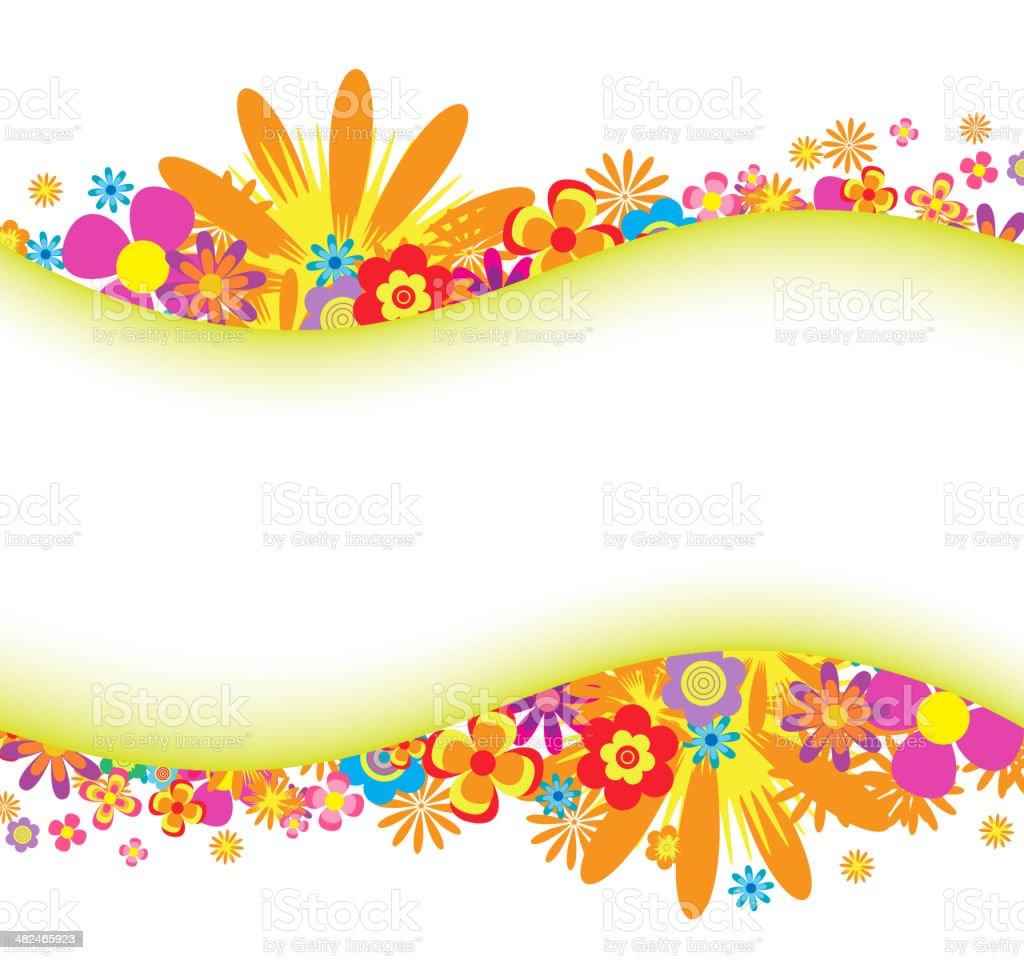 Spring and summer flower colorful background vector art illustration