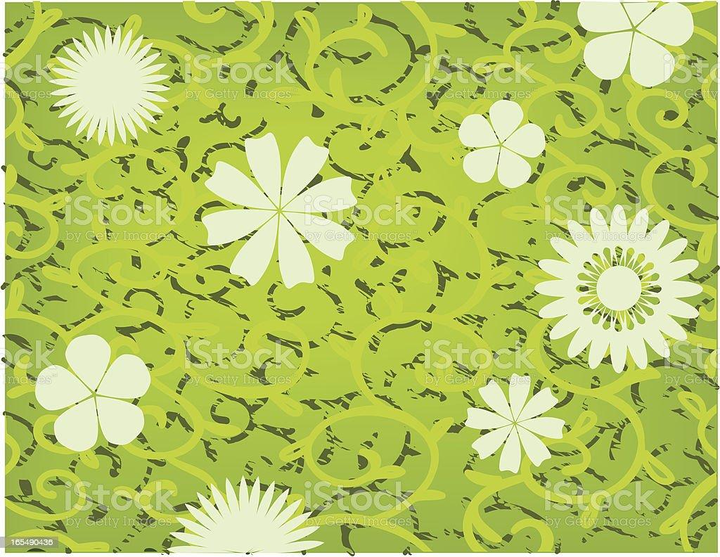 Spring and summer flowers pattern vector art illustration