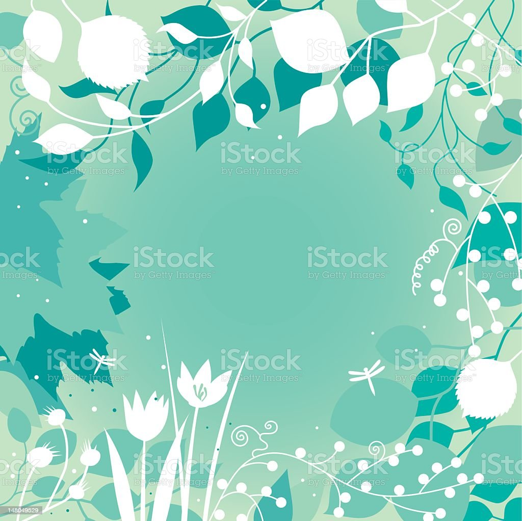 Spring background turquoise royalty-free stock vector art