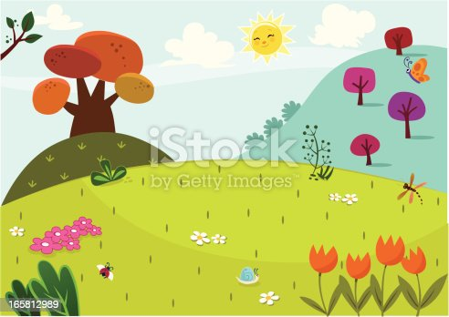 Countryside scenery in spring time.