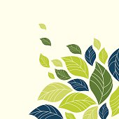 Vector of Spring background with spot color leaves. EPS10 file format.
