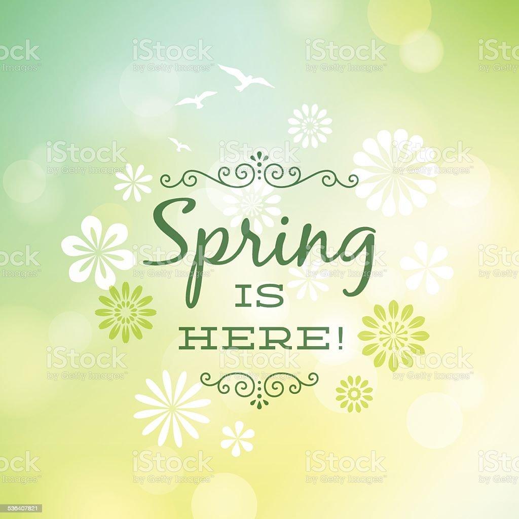Spring Background vector art illustration