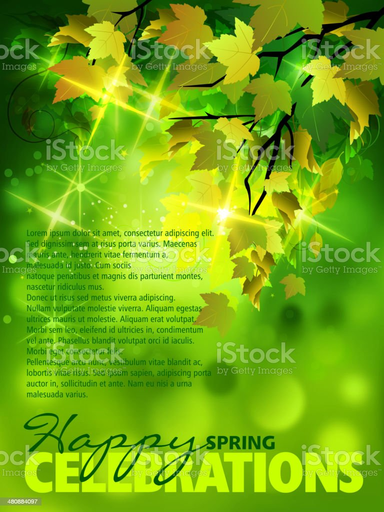 Spring Background with Copy space royalty-free stock vector art
