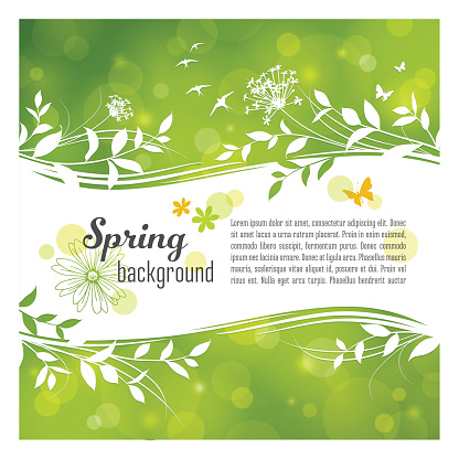 Spring Background with Copyspace