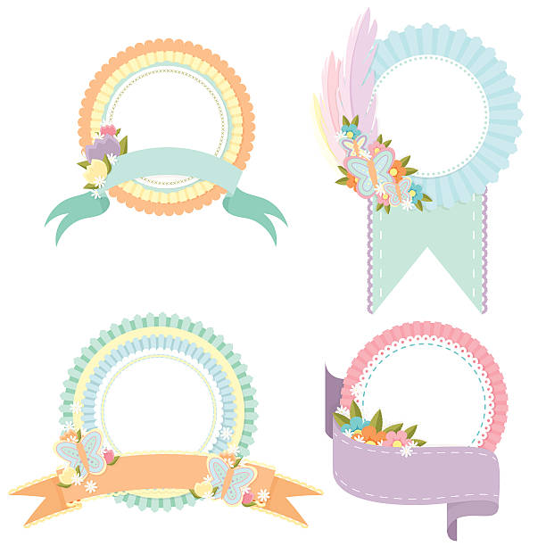 Spring Badges vector art illustration