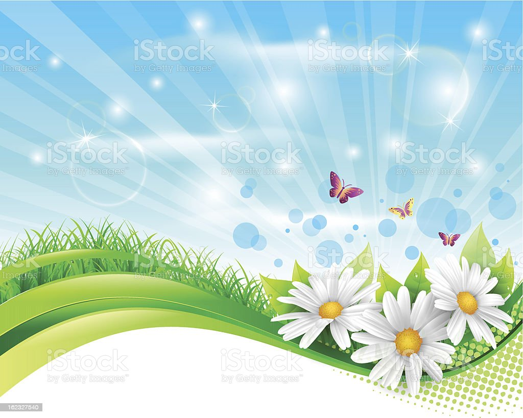 Spring banner vector art illustration