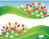 Beautiful Spring Banner. EPS 10 file. Transparency used. ZIP contains AI format, PDF and jpeg XXXLarge.
