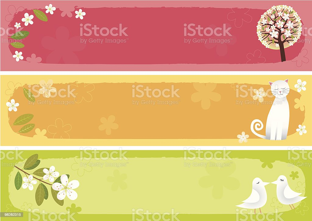 Spring banners horizontal royalty-free spring banners horizontal stock vector art & more images of bird