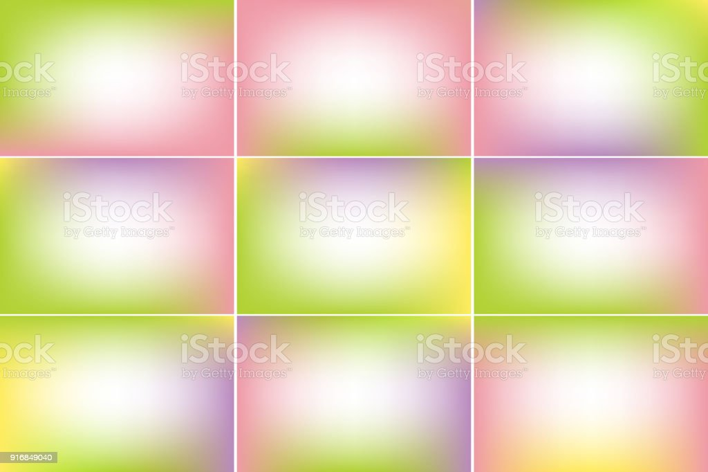 Spring banners. Pink and green colors. Gradient vector backgrounds collection vector art illustration