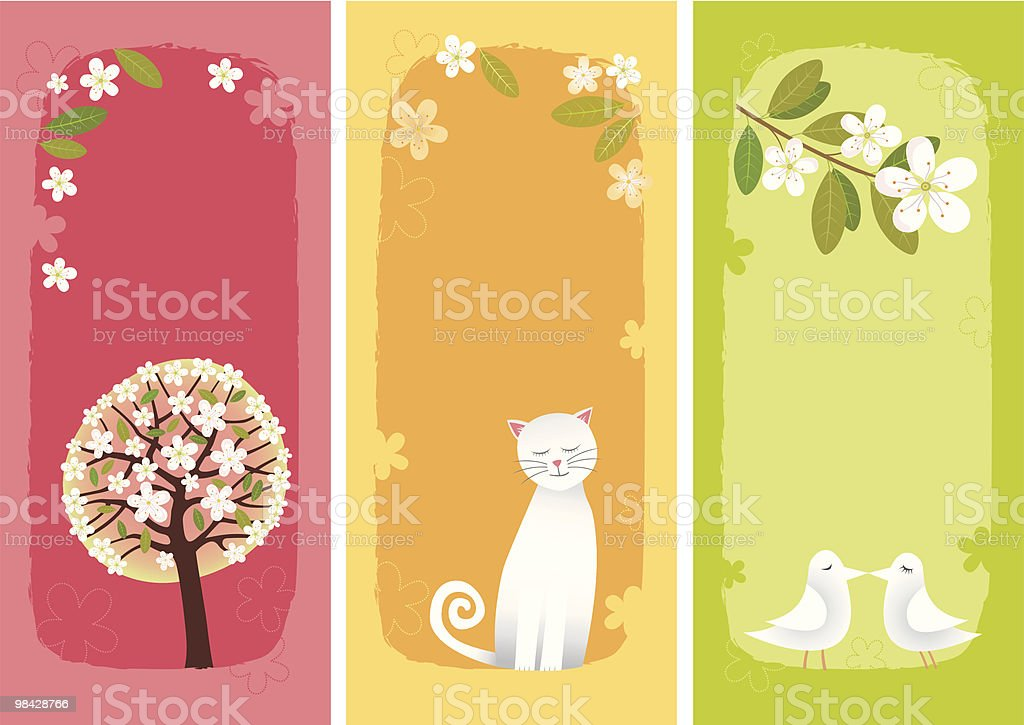 Spring banners vertical royalty-free spring banners vertical stock vector art & more images of apple tree