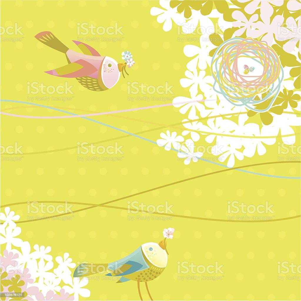 Spring Birds royalty-free stock vector art
