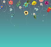 vector illustration of beautiful flowers