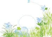 Decorative floral composition